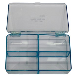 """Flambeau 5204CL Parts Box with 4 Compartments, 4-1/2 x 2-3/4 x 1-1/8"""""""