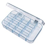 Flambeau 5126CL Parts Box with 17 Compartments, 7 x 4 x 1-1/16""