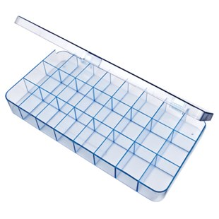 Flambeau 5129CL Parts Box with 24 Compartments, 12-1/4 x 6-1/8 x 1-1/2""