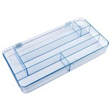Flambeau 5130CL Parts Box with 6 Compartments, 12-1/4 x 6-1/8 x 1-1/2""