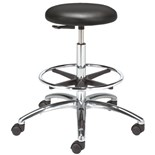 "Bevco 3550C1V-ACF18-3850S/5 Class 10 Cleanroom Stool with Casters (Seat Height: 24""-34"")"