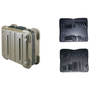 """Jensen Tools 356-170 9"""" Olive Rugged Duty Poly Case w/Pallets only"""