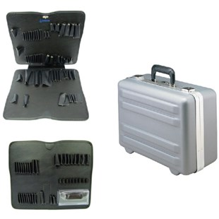 Jensen Tools 377-173 Deluxe Poly, Deep Case with Pallets Only, Gray
