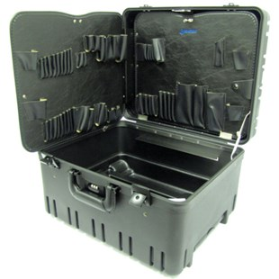 """Jensen Tools 377-246 12"""" Roto-Rugged™ wheeled case w/pallets only"""