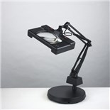 Electrix 7452-BLACK Widex Illuminated Magnifier, Weighted-base