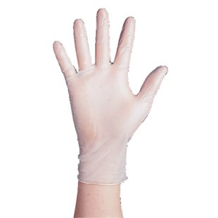 201-PF SMALL Anti Static Vinyl Gloves, Powder Free, Small, Packaged 1000/Case (Double Bagged 100/Bag)
