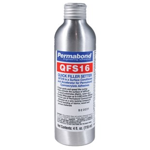 Permabond QFS16 QFS16-4 Accelerator 4 oz. Aluminum Bottle with Spray Pump