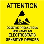 "Desco 06722 English Static Awareness Label, 2"" x 2"", 500/Roll"