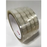 "Shercon SH-52223 3/8"" Water Soluble Solder Masking Disc, Clear, 5000/Roll"
