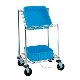 Metro EBC313BBR Mobile ESD-Safe Bench Side Tote Cart