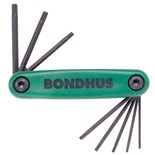 Bondhus 12632 8-Piece Torx Fold Up Key Set, T6-T25