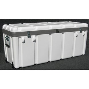 "Jensen Tools 1SW4114-16LF Shipping Case with Built-In Wheels, Foam Lined, 41 x 14 x 16"", 30 lbs."