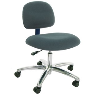 """Industrial Seating AL12-FC Heavy Duty ESD-Safe Chair, Grey Fabric, Adjustable Height 17"""" - 22"""""""