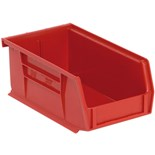 "Quantum Storage Systems QUS220 Parts Bin, Red, OD 7-1/2"" x 4-1/8"" x 3"""