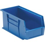 "Quantum Storage Systems QUS230 Parts Bin, Blue, OD 11"" x 5-1/2"" x 5"""