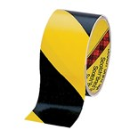 "3M 5702-2 Safety Tape, Black & Yellow Striped, 2"" W x 36 Yards"