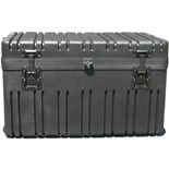 Jensen Tools RR2514-14TWFBK Rotationally Molded Case with Built-in Cart, Foam Filled 25 7/8x14 1/2x14
