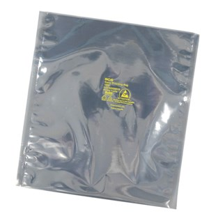 "SCS 100810 Transparent Metal-In Static Shielding Bag - Open Top (8"" x 10""), 100/Pkg."