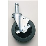 "Metro 5MBC Conductive ESD-Safe Swivel Caster with Brake, 5"" Dia. x 1-1/4"""