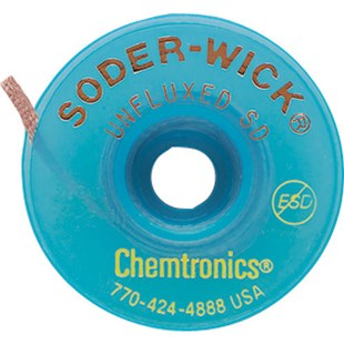 """Chemtronics 75-4-10 Unfluxed Wick, .110"""", on 10 ft. Static Dissipative Spool"""