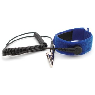 "Botron B9268 Hook & Loop Adjustable Wrist Strap with 6 ft. Cord, 1/8"" Snap"