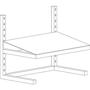 Production Basics 8659 Free Standing Adjustable Footrest