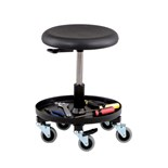"Bevco 3057 Maintenance/Repair Stool with Tray, Seat Adjustable 16-1/2"" - 20-1/2"""