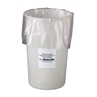 ACL 5075 Static Dissipative Waste Basket, 11 Gallon