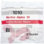 "Texwipe TX1010 Vectra® Alpha® 10 Sealed-Border Wipers, 9"" x 9"", 100/Bag"