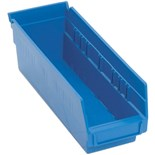 "Quantum Storage Systems QSB101 Shelf Bin, 11-5/8"" x 4-1/8"" x 4"", Blue"