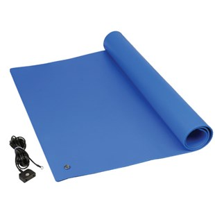 "SCS TM2448L3BL-L Table Mat, Blue, 24"" x 48"" with Ground Cord System"
