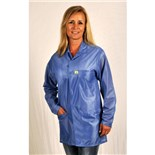 Tech Wear LOJ-23KEY-L Groundable Anti-static Unisex Jacket with Knit Cuffs, Blue, Large