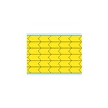 "Brady DIA-375-YL Yellow Di-Cut Inspection Arrows, 0.375"" x 0.187"" 280/Card"