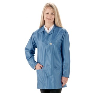 Tech Wear LEQ-43-2XL Econo$hield™ ESD-Safe 3/4 Length Shielding Coat, Blue, 2X-Large