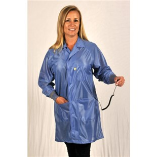 Tech Wear SOC-23C-S ESD-Safe Coat, Blue, Small