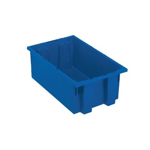 "Quantum Storage Systems SNT180 Stack and Nest Tote, Blue , 18"" x 11"" x 6"""