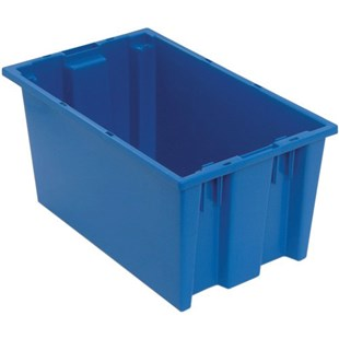 "Quantum Storage Systems SNT185 Stack and Nest Totes, Blue, 18"" x 11"" x 9"""