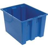"""Quantum Storage Systems SNT195 Stack and Nest Totes, Blue, 19-1/2"""" x 15-1/2"""" x 13"""""""