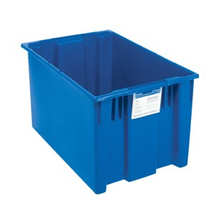 """Quantum Storage Systems SNT300 Stack and Nest Tote, Blue, 29-1/2"""" x 19-1/2"""" x 15"""""""