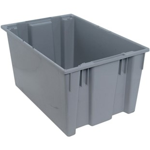 """Quantum Storage Systems SNT300 Stack and Nest Tote, Grey, 29-1/2"""" x 19-1/2"""" x 15"""""""