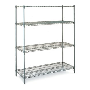 Metro Super Adjustable® Stationary Wire-Shelving Unit | JENSEN ...