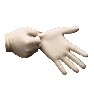 "Techniglove TGL902M Cleanroom Latex Gloves Class 100, 9-1/2"" Medium, 100/Bag"