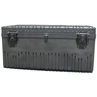 Jensen Tools RR3725-16TWFBK Rotationally Molded Case with Built-in Cart, Foam Filled