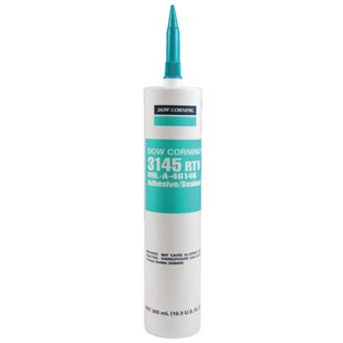 Dow Corning DC-3145-MS-CL-10.3 MIL-A-46146 Adhesive Sealant, Clear, 10.3 oz Cartridge
