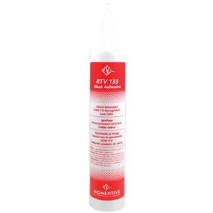 Momentive 9353 RTV Silicone One Part Adhesive, Black, 10.1 oz. Cartridge