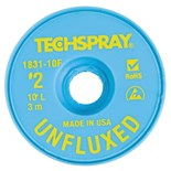 "Techspray 1831-10F Unfluxed Desoldering Braid, .055"", 10ft"