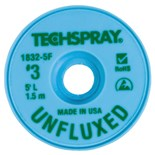 "Techspray 1832-5F Unfluxed Desoldering Braid, .075"", 5'"