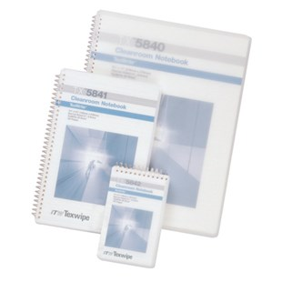 "Texwipe TX5741 Cleanroom Notebook Spiral 5-1/2"" X 8-1/2"", 10/Case"