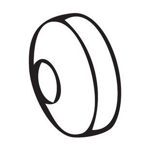 Pace 1213-0086-P1 No. 6, Rear Seal for SX80 Handpiece