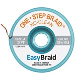 "EasyBraid OS-A-10AS One-Step Desoldering Braid, No Clean .025"" x 10' Anti-Static Bobbin"
